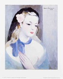 The Blue Ribbon Póster por Marie Laurencin