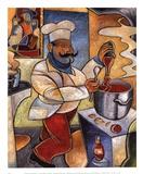 Pablos rote Sauce Kunstdrucke von John Milan