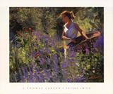 Cutting Garden Prints by Thomas J. Larson