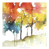 Rainbow Trees II Posters by Leticia Herrera