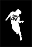 Choose Life Dancing Silhouette Affiches