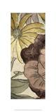 Earthtone Floral Panel IV Posters by Catherine Kohnke