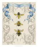 Bees & Filigree II Giclee Print by Naomi McCavitt