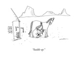 """Saddle up."" - New Yorker Cartoon Premium Giclee Print by Michael Maslin"