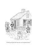 """I think you'll find this home has real storybook charm."" - New Yorker Cartoon Premium Giclee Print by Edward Koren"