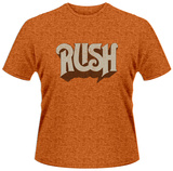Rush- Vintage Distressed Band Logo T-Shirt