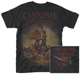 Cannibal Corpse- Fire Up the Chainsaw (Front/Back) T-Shirts