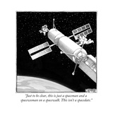 """Just to be clear, this is just a spaceman and a spacewoman on a spacewalk... - New Yorker Cartoon Reproduction giclée Premium par Matthew Diffee"