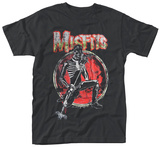 The Misfits- Distressed Band Skeleton T-Shirt