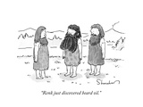 """""""Renk just discovered beard oil."""" - New Yorker Cartoon Premium Giclee Print by Danny Shanahan"""