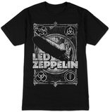 Led Zeppelin- Distressed Four Symbols Stamp T-Shirt