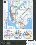 New York Subway 500 Piece Puzzle Jigsaw Puzzle