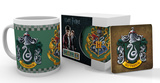 Harry Potter- Slytherin Mug and Coaster Set Taza
