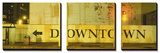 Downtown Sign Printed on a Wall, San Francisco, California, USA Posters av Panoramic Images,