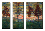 Vier Baeume, 1917 Kunstdrucke von Egon Schiele