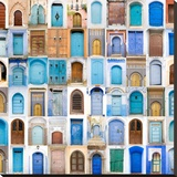 Very Old, Blue And Golden Doors Of Morocco Posters by  charobna