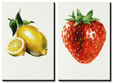 Lemon Strawberry Posters by Sydney Edmunds