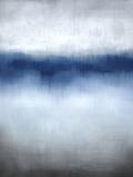 Linear Blue Horizon Giclée-Druck von Kari Taylor