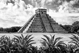 ¡Viva Mexico! B&W Collection - Pyramid of Chichen Itza VII Reproduction photographique par Philippe Hugonnard