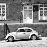 ¡Viva Mexico! Square Collection - VW Beetle Car B&W Photographic Print by Philippe Hugonnard