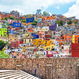 ¡Viva Mexico! Square Collection - Guanajuato Colorful City Photographic Print by Philippe Hugonnard