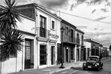 ¡Viva Mexico! B&W Collection - Black VW Beetle Car in Mexican Street II Photographic Print by Philippe Hugonnard