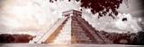 ¡Viva Mexico! Panoramic Collection - El Castillo Pyramid in Chichen Itza IX Lámina fotográfica por Philippe Hugonnard