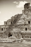 ¡Viva Mexico! B&W Collection - Maya Archaeological Site IV - Campeche Photographic Print by Philippe Hugonnard