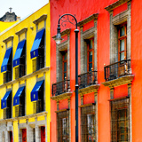 ¡Viva Mexico! Square Collection - Mexico City Colorful Facades II Reproduction photographique par Philippe Hugonnard
