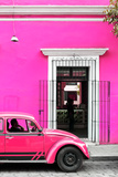 ¡Viva Mexico! Collection - Volkswagen Beetle Car - Deep & Hot Pink Photographic Print by Philippe Hugonnard